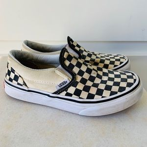 Vans Kids' Checkerboard Slip On Black & White